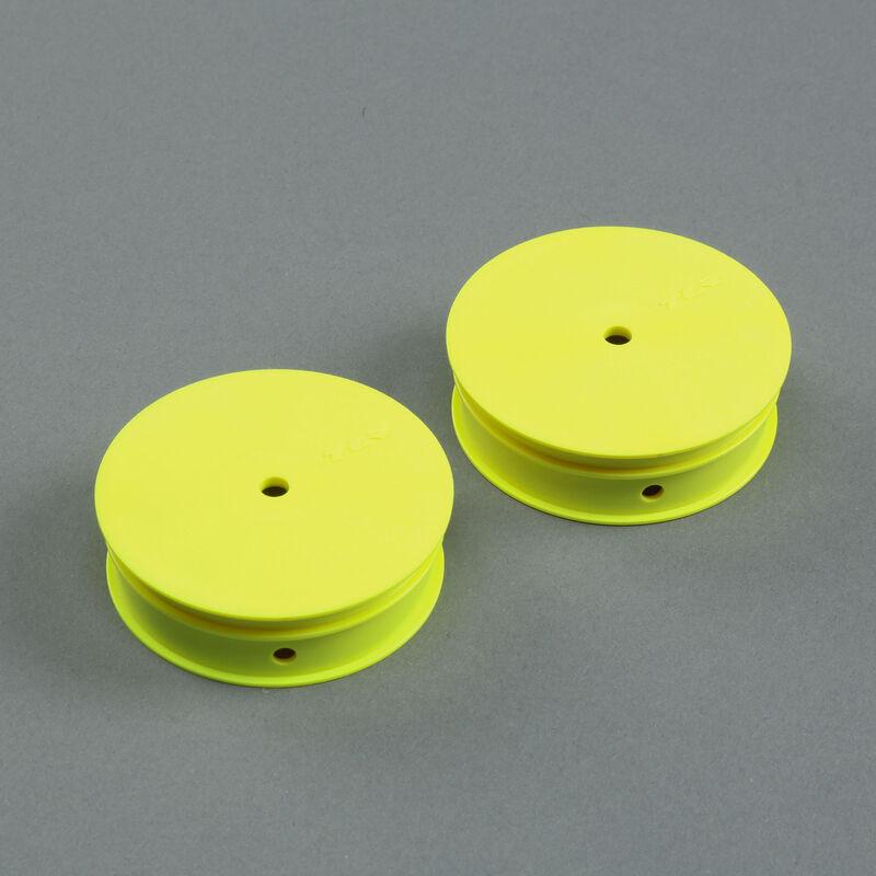 1/10 Narrow Front Buggy Wheels, Stiffezel, 12mm Hex, Yellow (2): 22