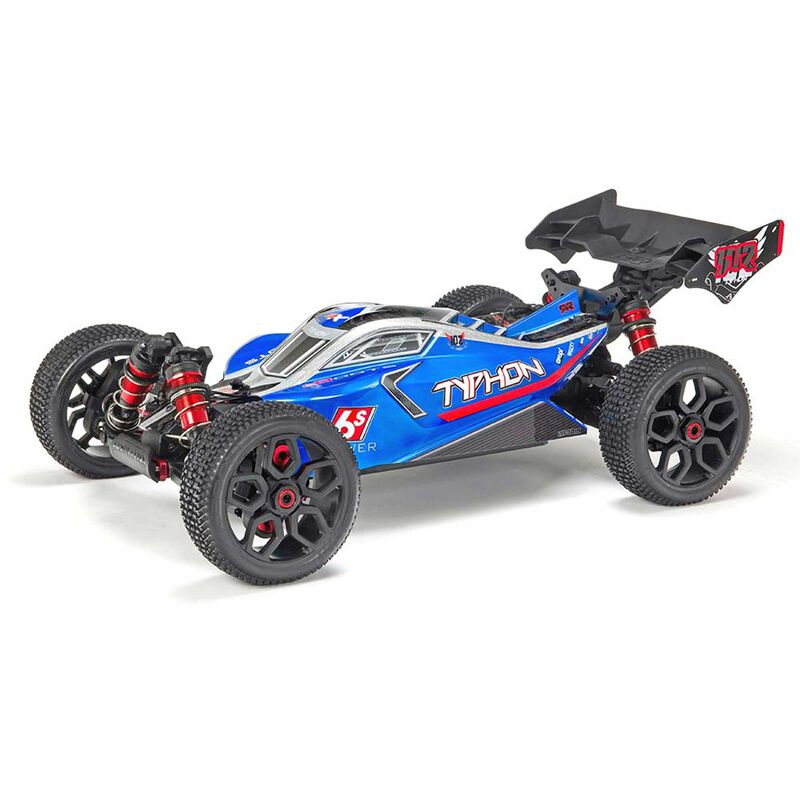 1/8 TYPHON 6S BLX 4WD Brushless Buggy RTR, Blue/Silver