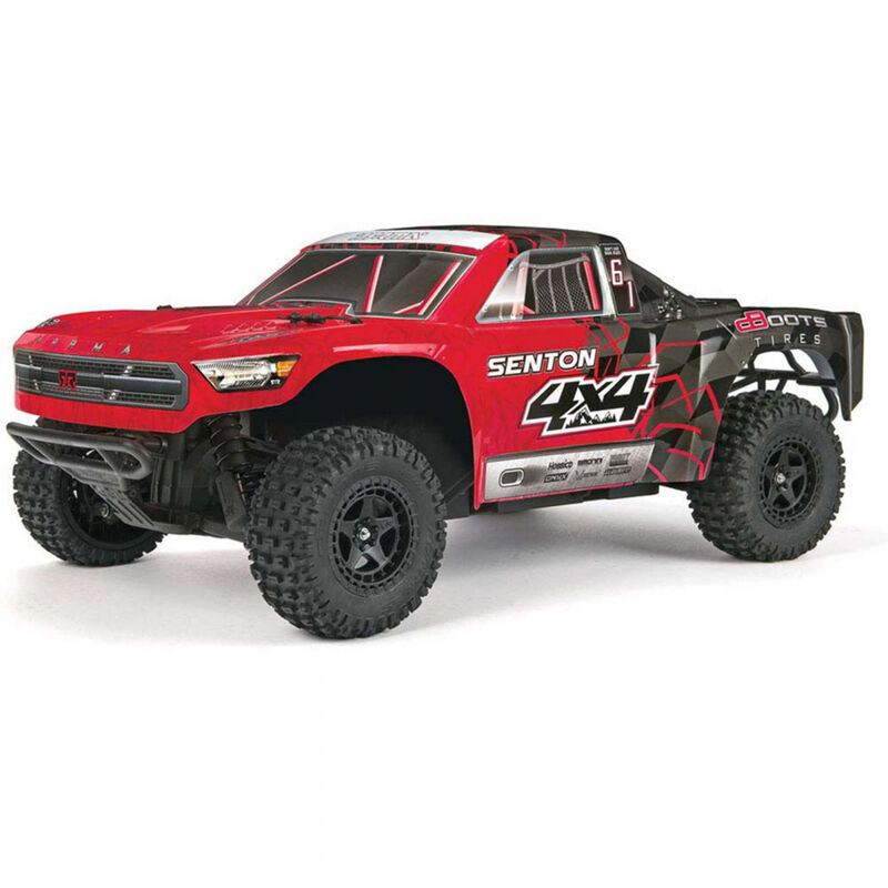 1/10 SENTON 4x4 Mega SC Brushed Truck RTR, Red/Black