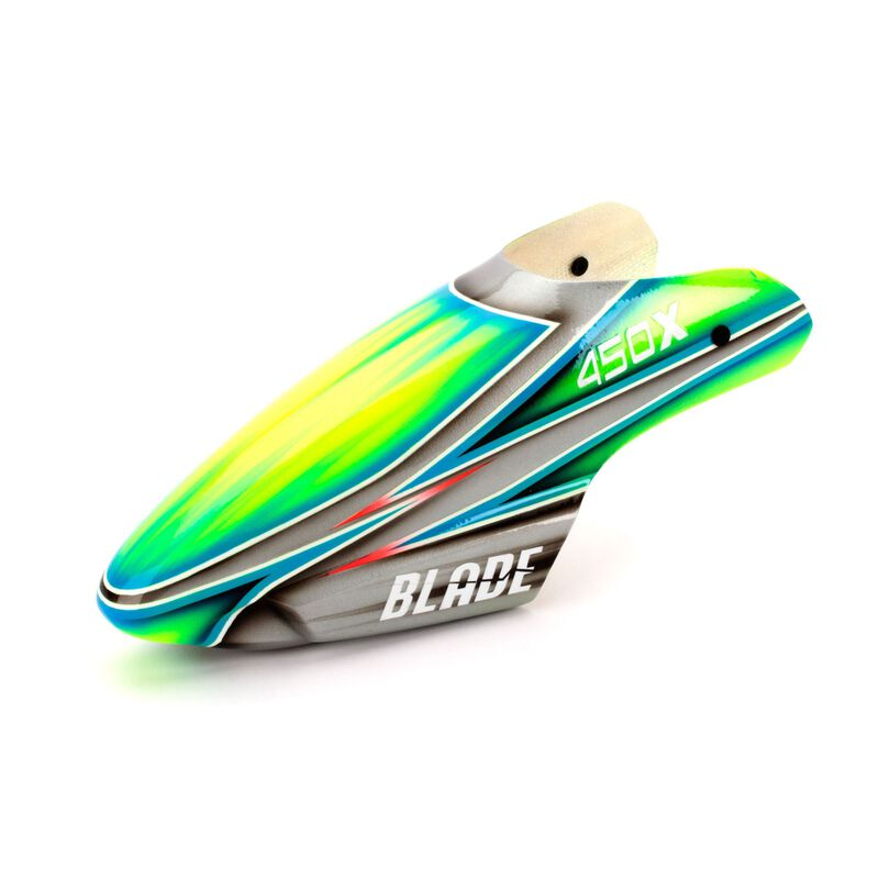 Fiberglass Canopy, Silver/Green: Blade 450