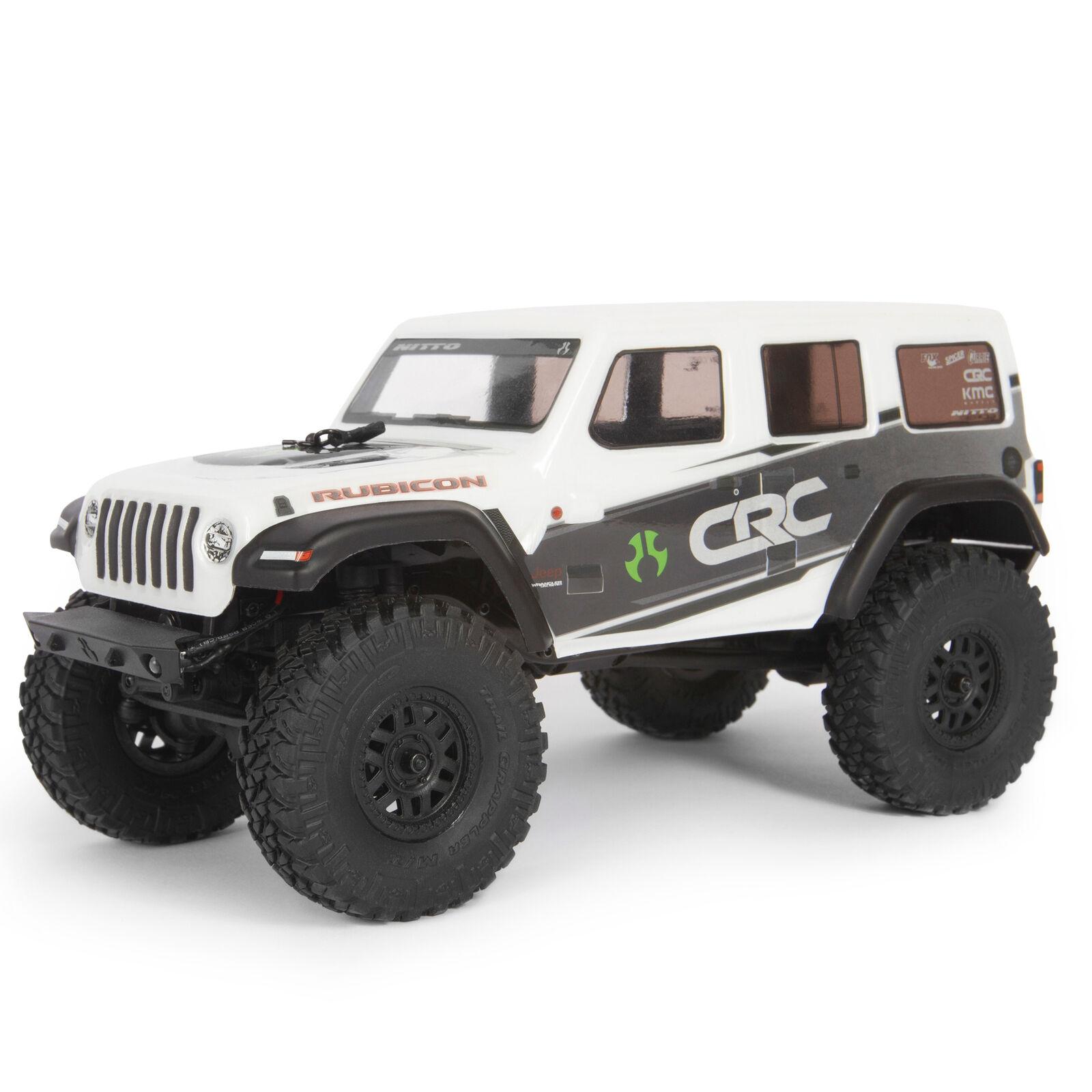 1/24 SCX24 2019 Jeep Wrangler JLU CRC 4WD Rock Crawler Brushed RTR, White