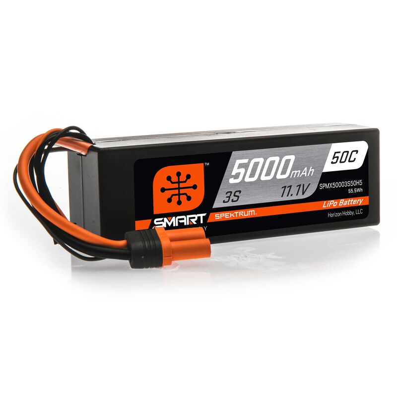 11.1V 5000mAh 3S 50C Smart Hardcase LiPo Battery: IC5