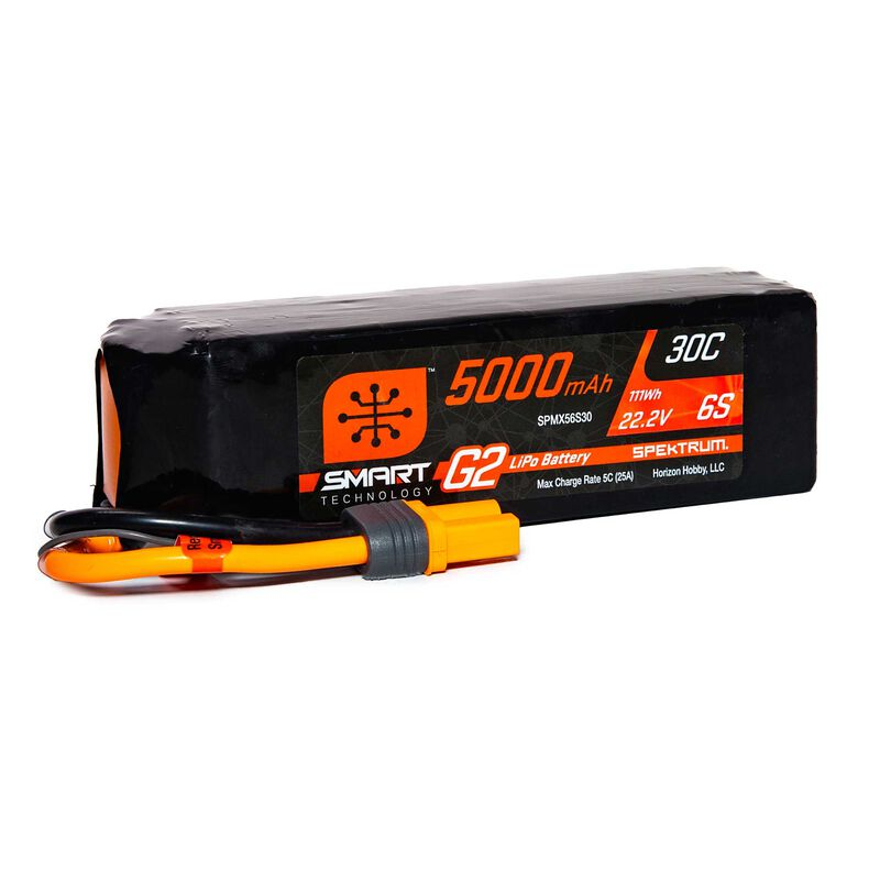 22.2V 5000mAh 6S 30C Smart LiPo G2: IC5