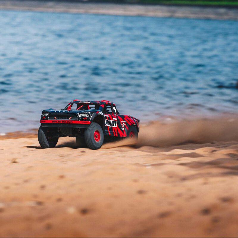 1/7 MOJAVE 6S V2 4WD BLX Desert Truck with Spektrum Firma RTR, Red/Black