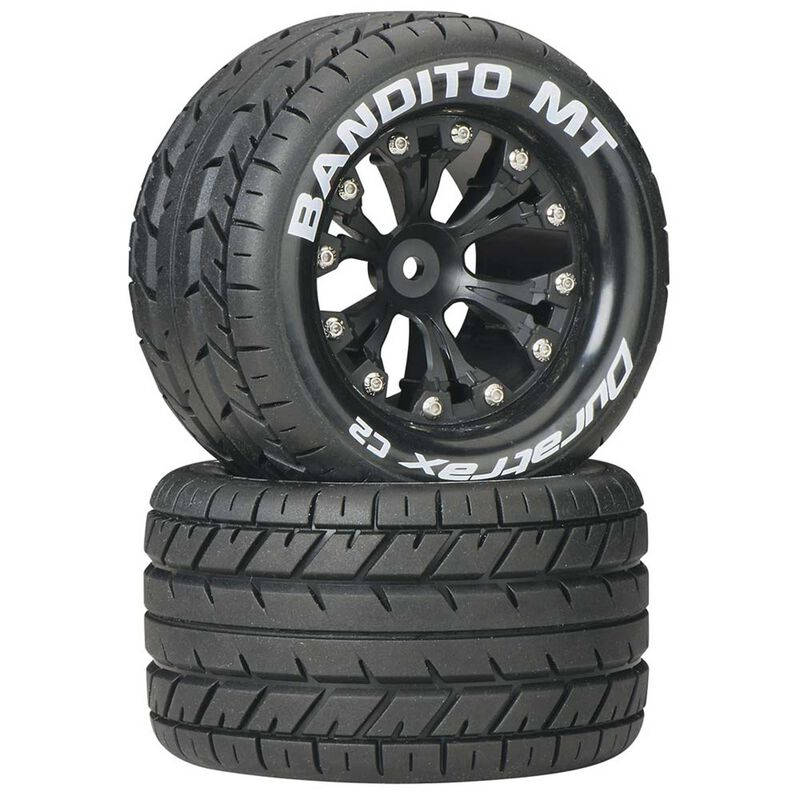 "Bandito MT 2.8"" 2WD Mounted Rear C2 Tires, Black (2)"