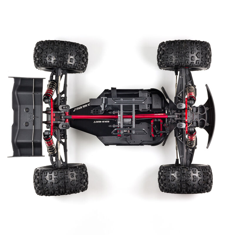 1/8 KRATON 4WD EXtreme Bash Roller Speed Monster Truck, Black