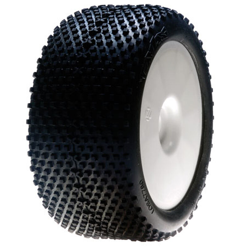 1/8 XTT Truggy Front/Rear 2.8 Pre-Mounted Tires, 12mm Hex, White (2)