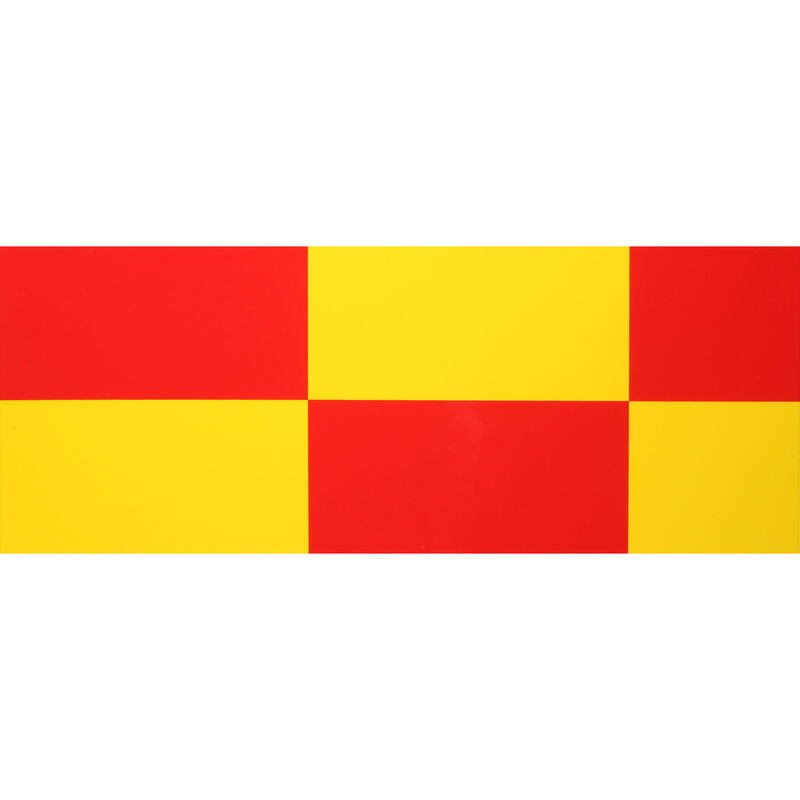 """UltraCote, 4"""" Squares, Yellow/Red"""