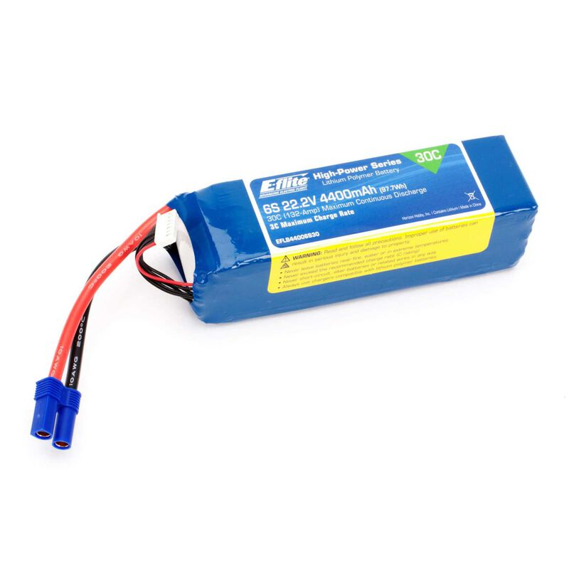 22.2V 4400mAh 6S 30C LiPo Battery: EC5
