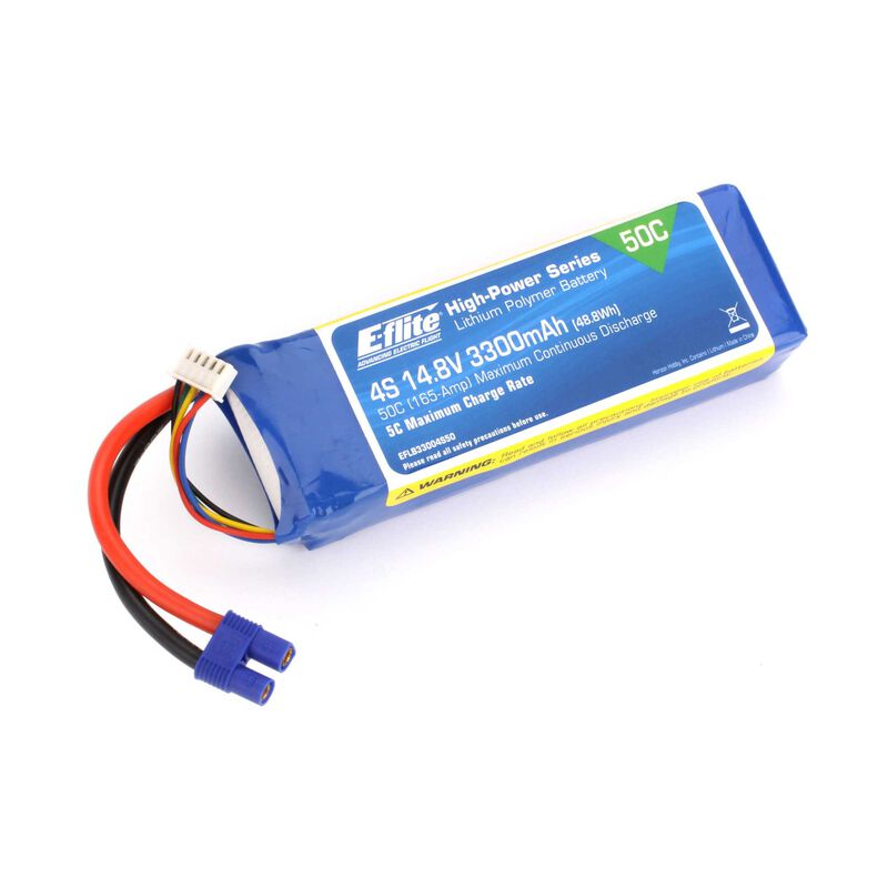 14.8V 3300mAh 4S 50C LiPo Battery: EC3