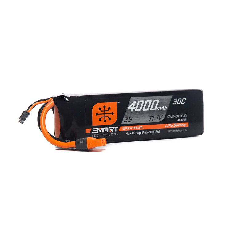 4000mAh 3S 11.1V Smart LiPo Battery 30C, IC3
