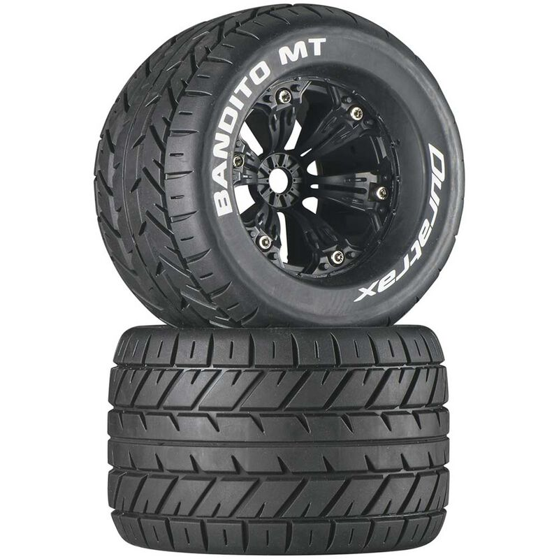 "Bandito MT 3.8"" Mounted 1/2"" Offset Tires, Black (2)"