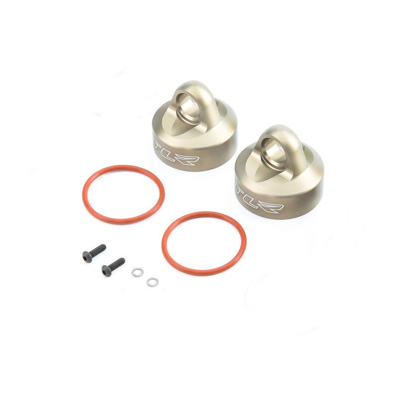 5T/Mini WRC - Bouchons d'amortisseurs en aluminium avec purge (2)