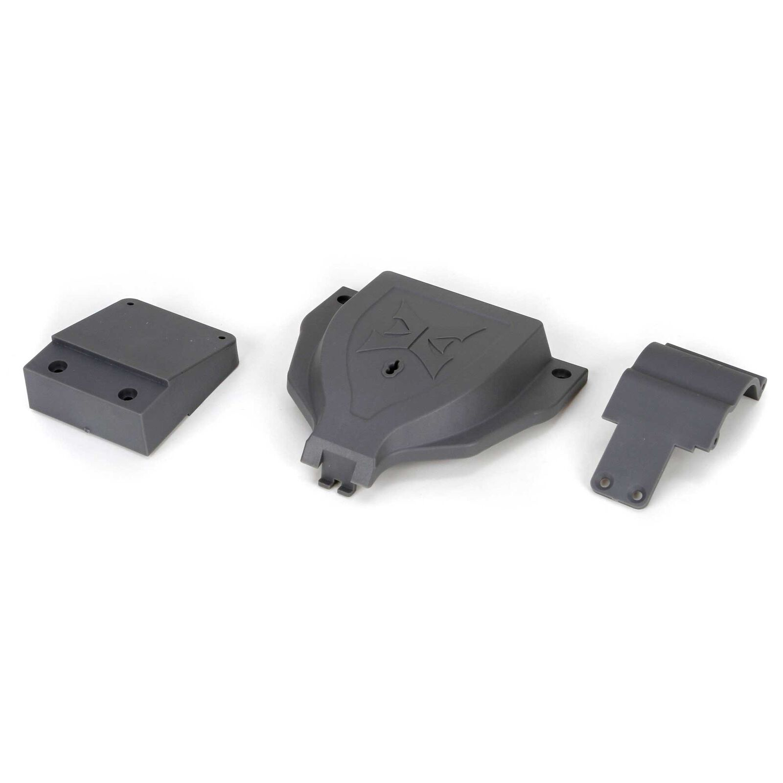 Electronics Cover and Rear Mount: 1/10 2WD Ruckus, Torment