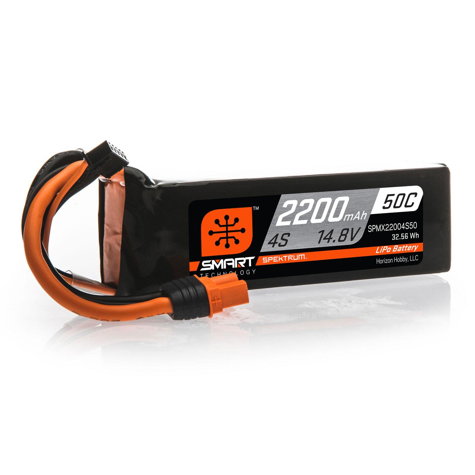 14.8V 2200mAh 4S 50C Smart LiPo Battery: IC3