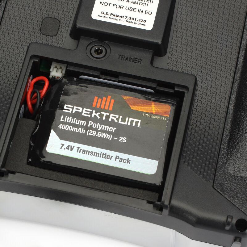 7.4V 4000mAh 2S LiPo Transmitter Battery: DX8, DX9