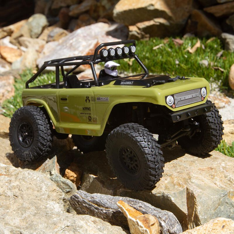 1/24 SCX24 Deadbolt 4WD Rock Crawler Brushed RTR, Green