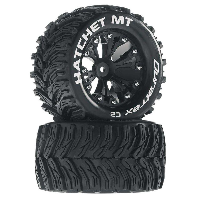 "Hatchet MT 2.8"" 2WD Mounted Rear Tires, Black (2)"