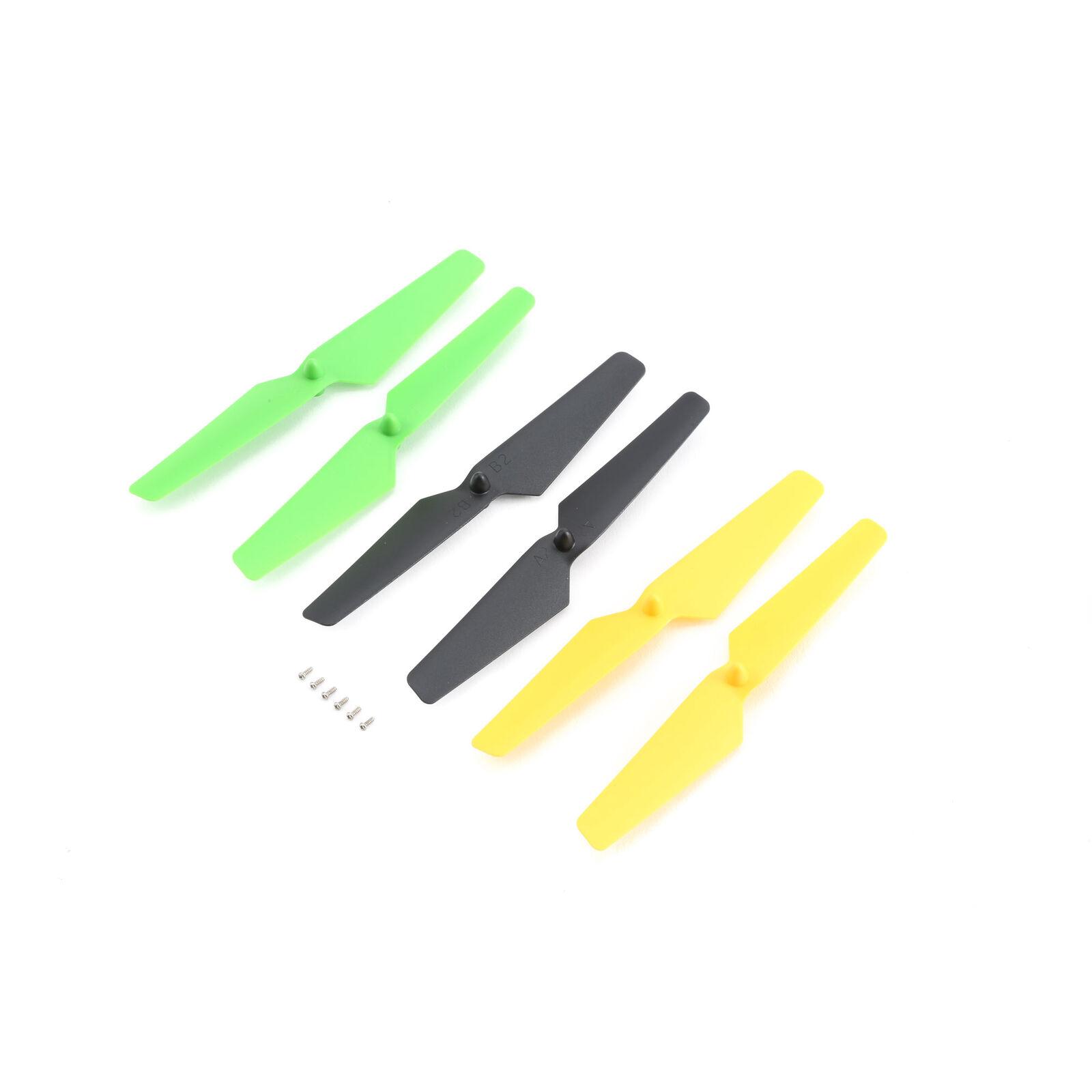 Blade Propellerset, gelb/grün/schwarz (4 Stk): Zeyrok