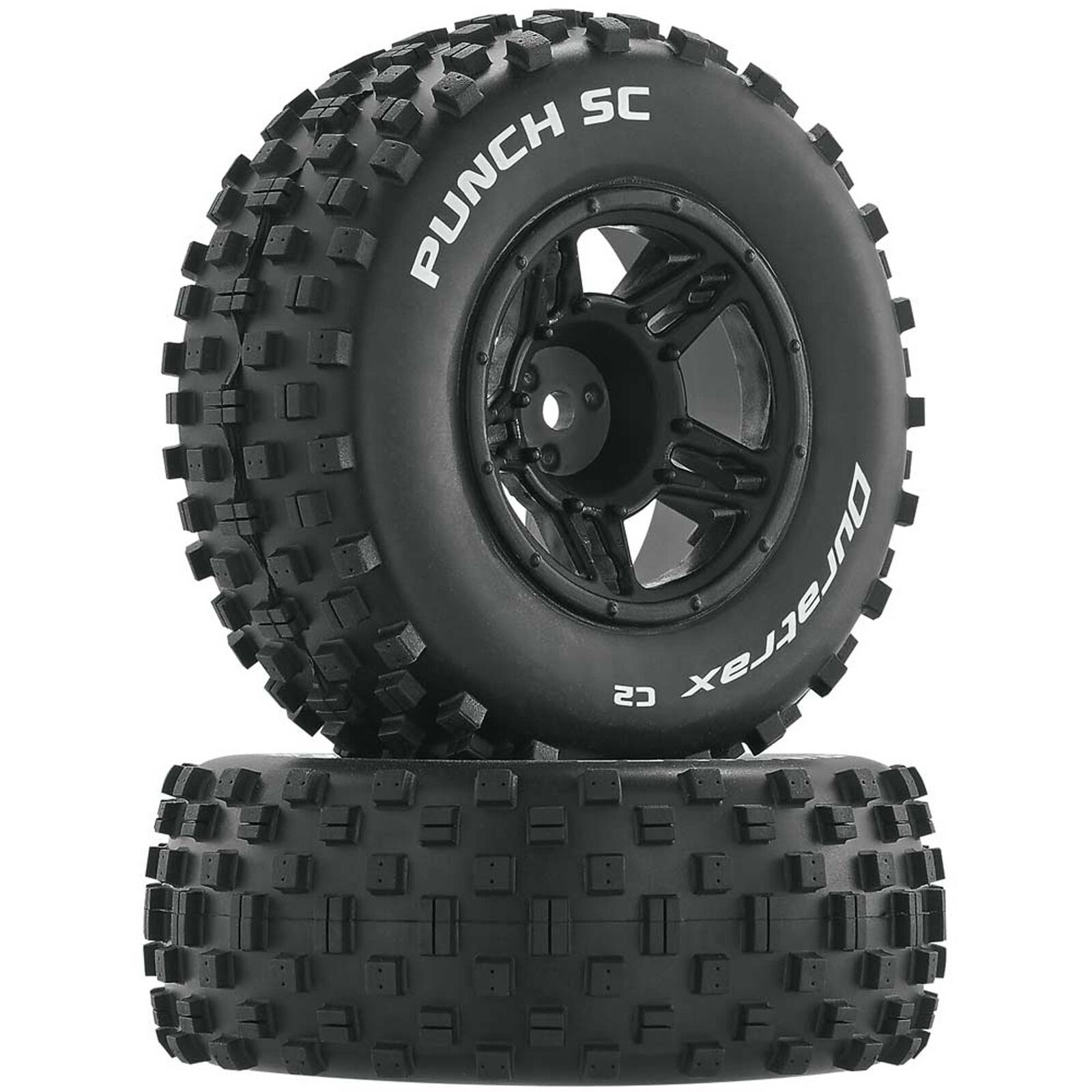 Punch SC C2 Mounted Front Tires: Slash (2)