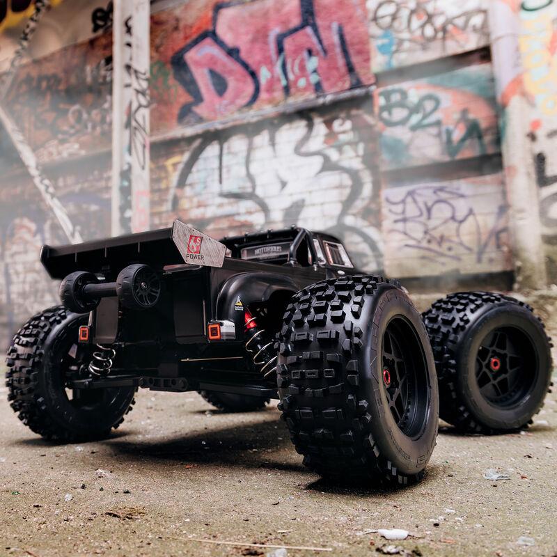 1/8 NOTORIOUS 6S BLX 4WD Classic Stunt Truck RTR, Black