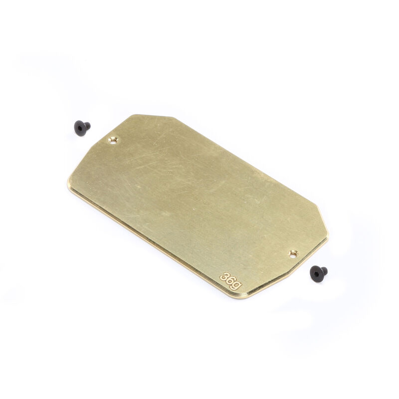 Brass Electronics Mounting Plate, 34g: 22 5.0