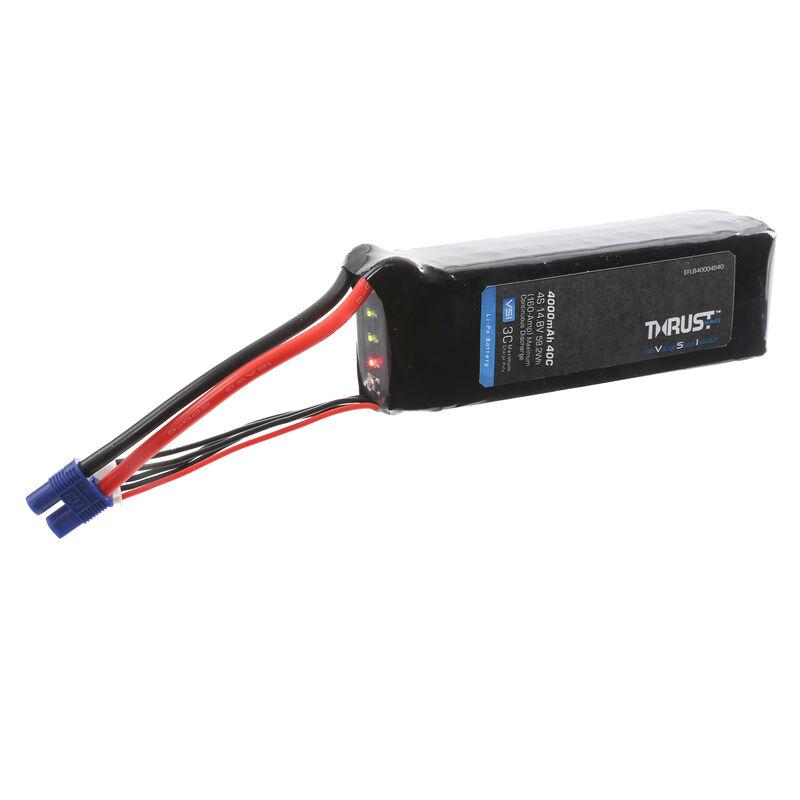 14.8V 4000mAh 4S 40C Thrust VSI LiPo Battery: EC3
