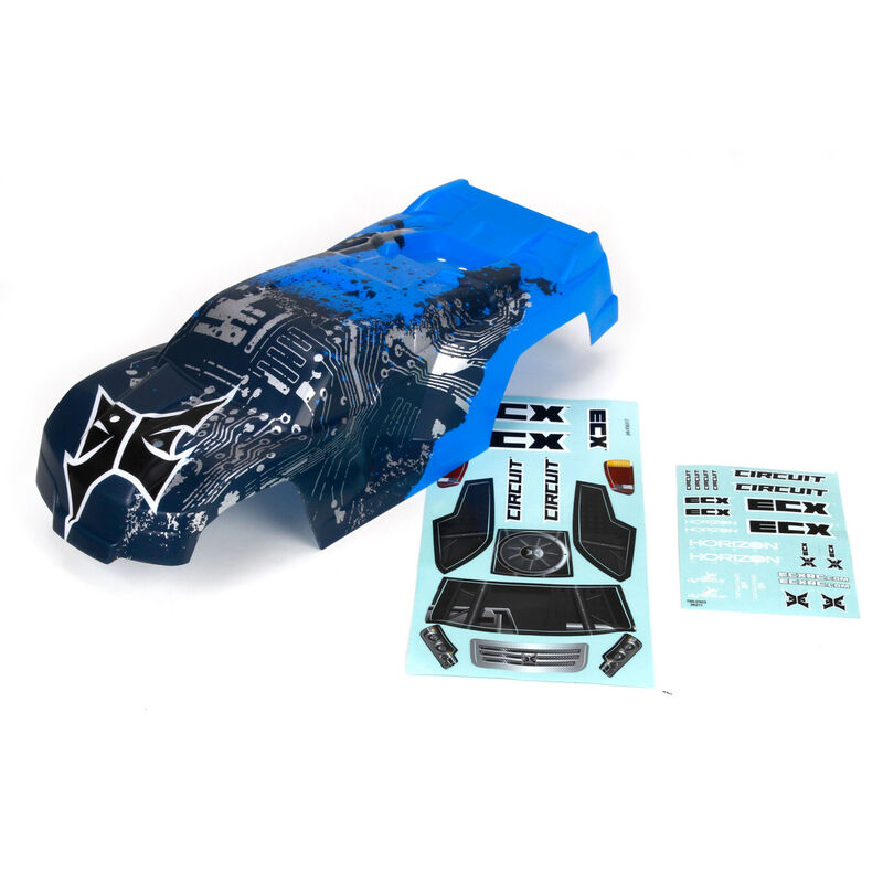 ECX Karosserie, silber-blau: Circuit
