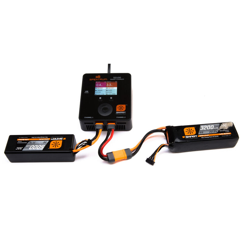 11.1V 5000mAh 3S 30C Smart Hardcase LiPo Battery: IC3