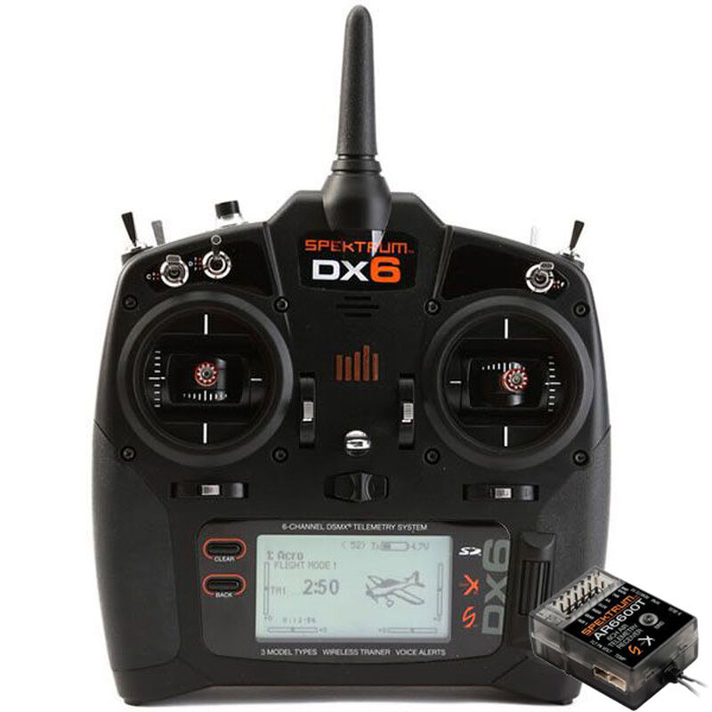 DX6 6-Channel DSMX Transmitter Gen 3 with AR6600T Receiver, Mode 2