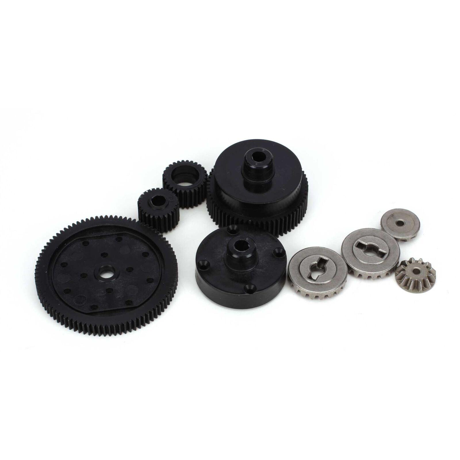 Transmission Plastic Gear Set: All ECX 1/10 2WD