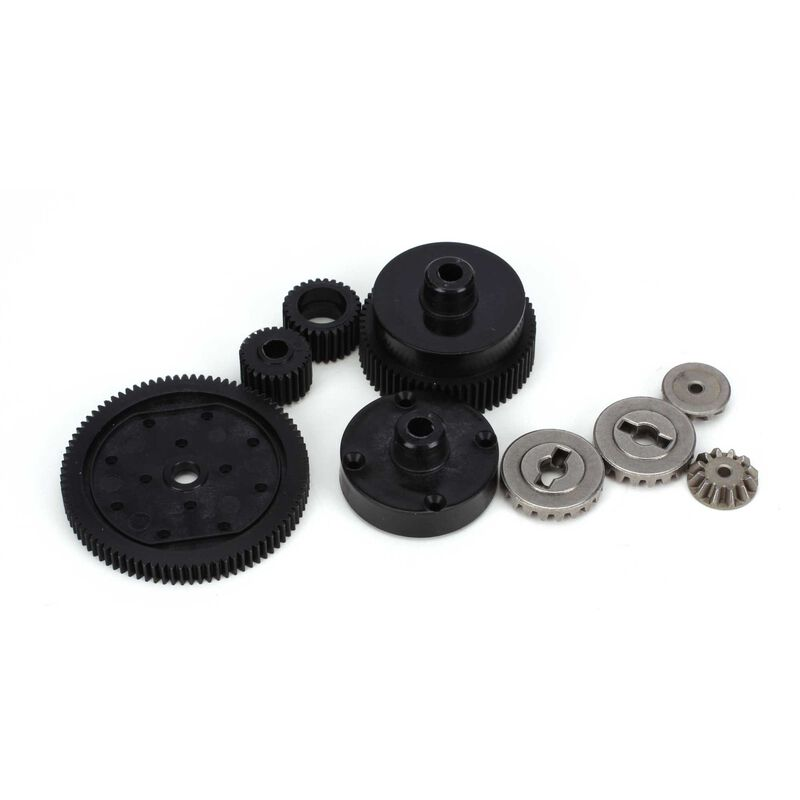 Transmission Plastic Gear Set: All ECX 1/10 2WD