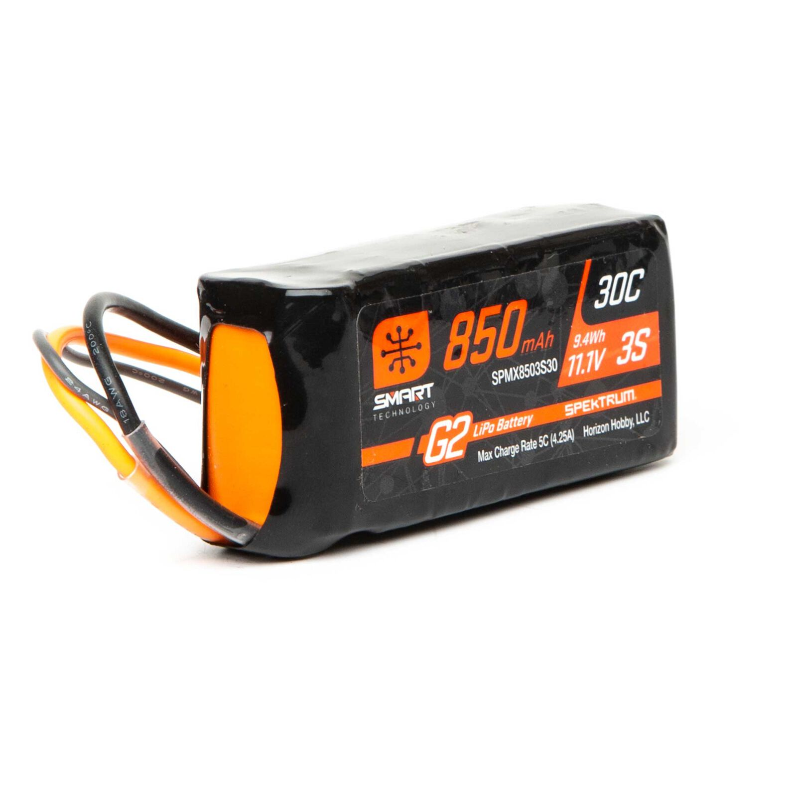 11.1V 850mAh 3S 30C Smart G2 LiPo Battery: IC2