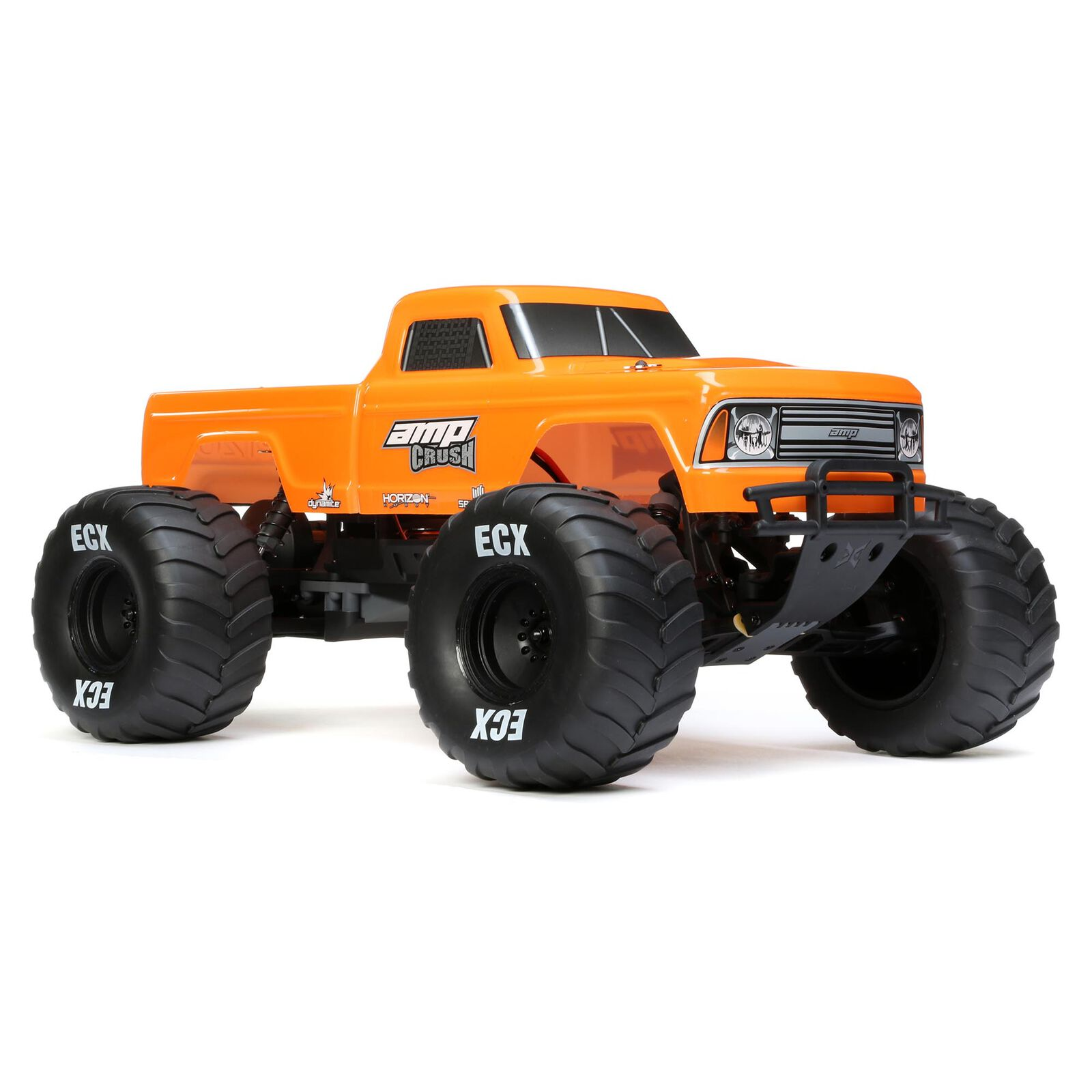 1/10 Amp Crush 2WD Monster Truck Brushed RTR International, Orange