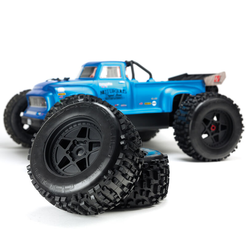 1/8 NOTORIOUS 6S BLX 4WD Brushless Classic Stunt Truck with Spektrum RTR, Blue