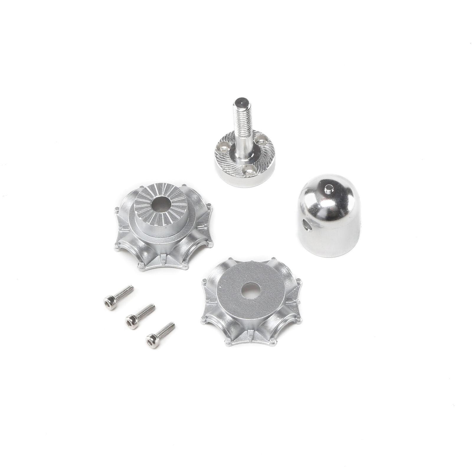 Prop Adapter, Aluminm Spinner, Plastic Hub: P-47 1.2m