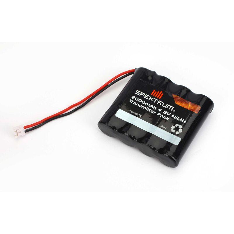 2000mAh 4.8V NiMH Transmitter Battery Pack: DX7s, DX8