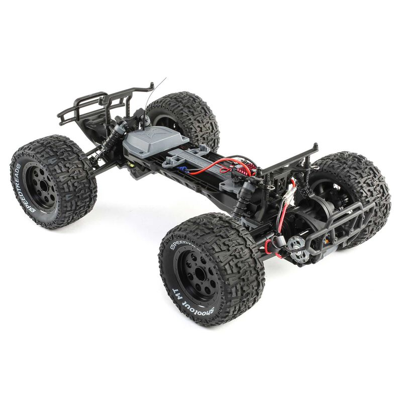 1/10 Ruckus 2WD Monster Truck Brushed RTR, Black/Yellow