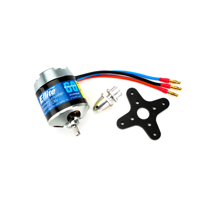 Power 60 Brushless Outrunner Motor, 470Kv: 4mm Bullet