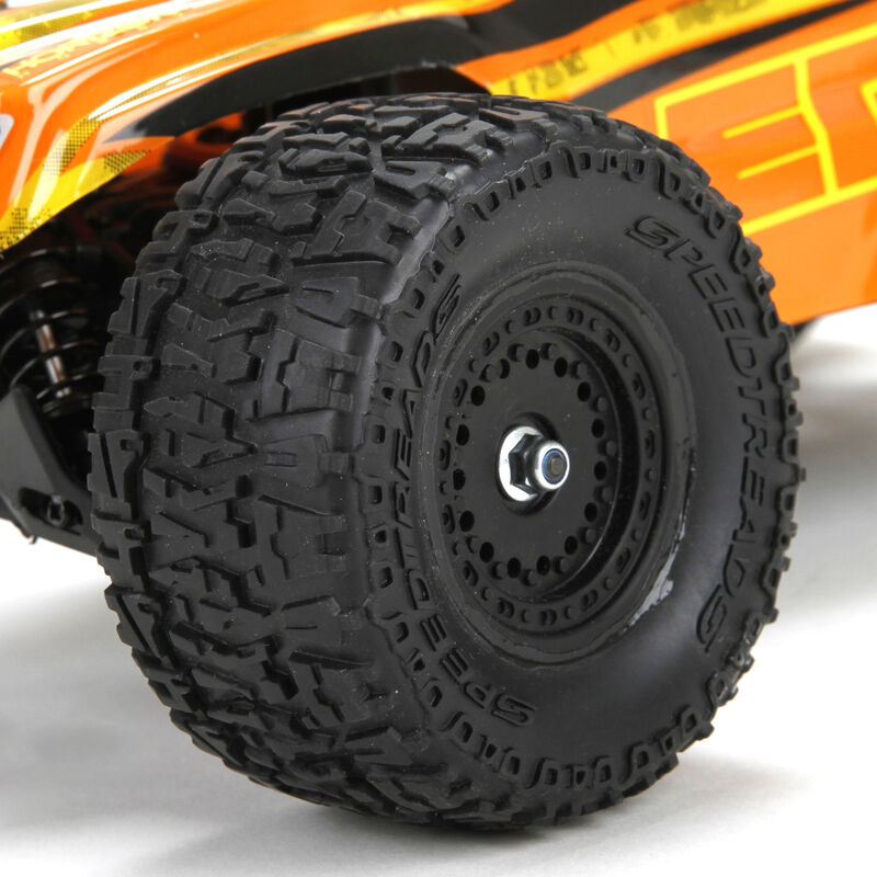 1/18 Ruckus 4WD Monster Truck RTR, Orange/Yellow INT