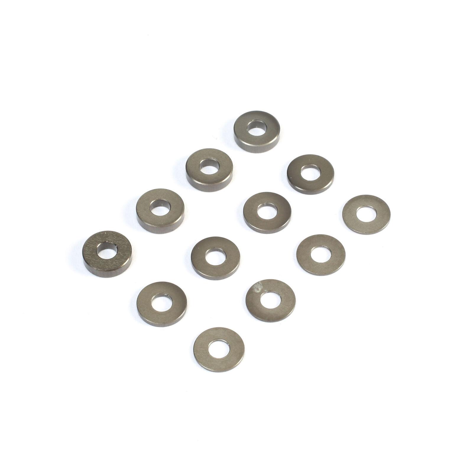 M3 Aluminum Washer Set, Hard Anodized (4): 22 3.0, 4.0, 5.0
