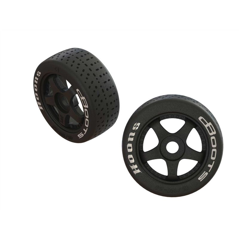 dBoots Hoons 42/100 2.9 Pre-Mounted Belted Tires, White, 17mm Hex, 5-Spoke (2)