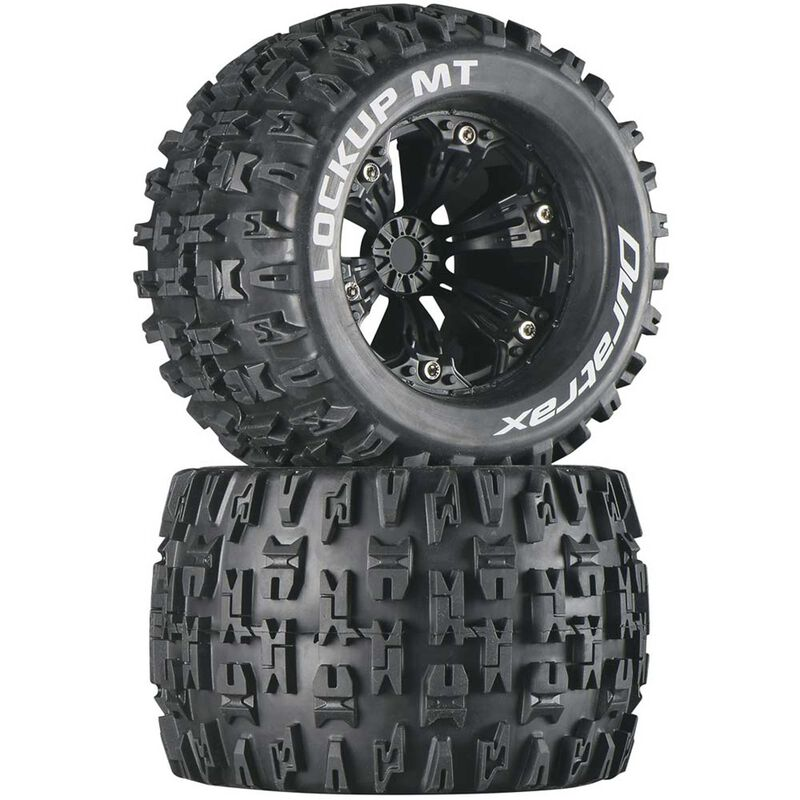 "Lockup MT 3.8"" Mounted 1/2"" Offset Tires, Black (2)"