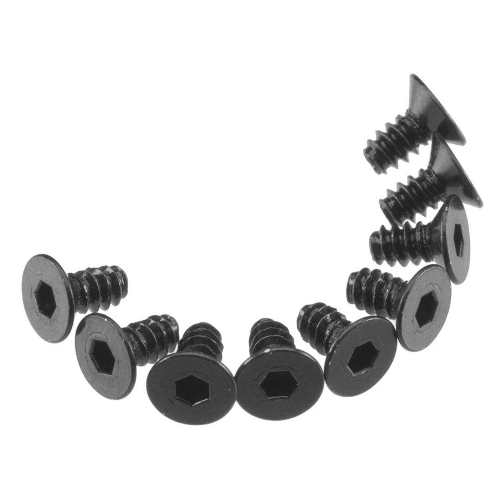 Hex Socket Tap Flat Head M3x6mm Black (10)
