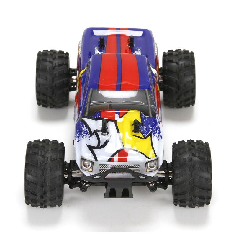 1/24 Ruckus 4WD Monster Truck RTR, Blue/White
