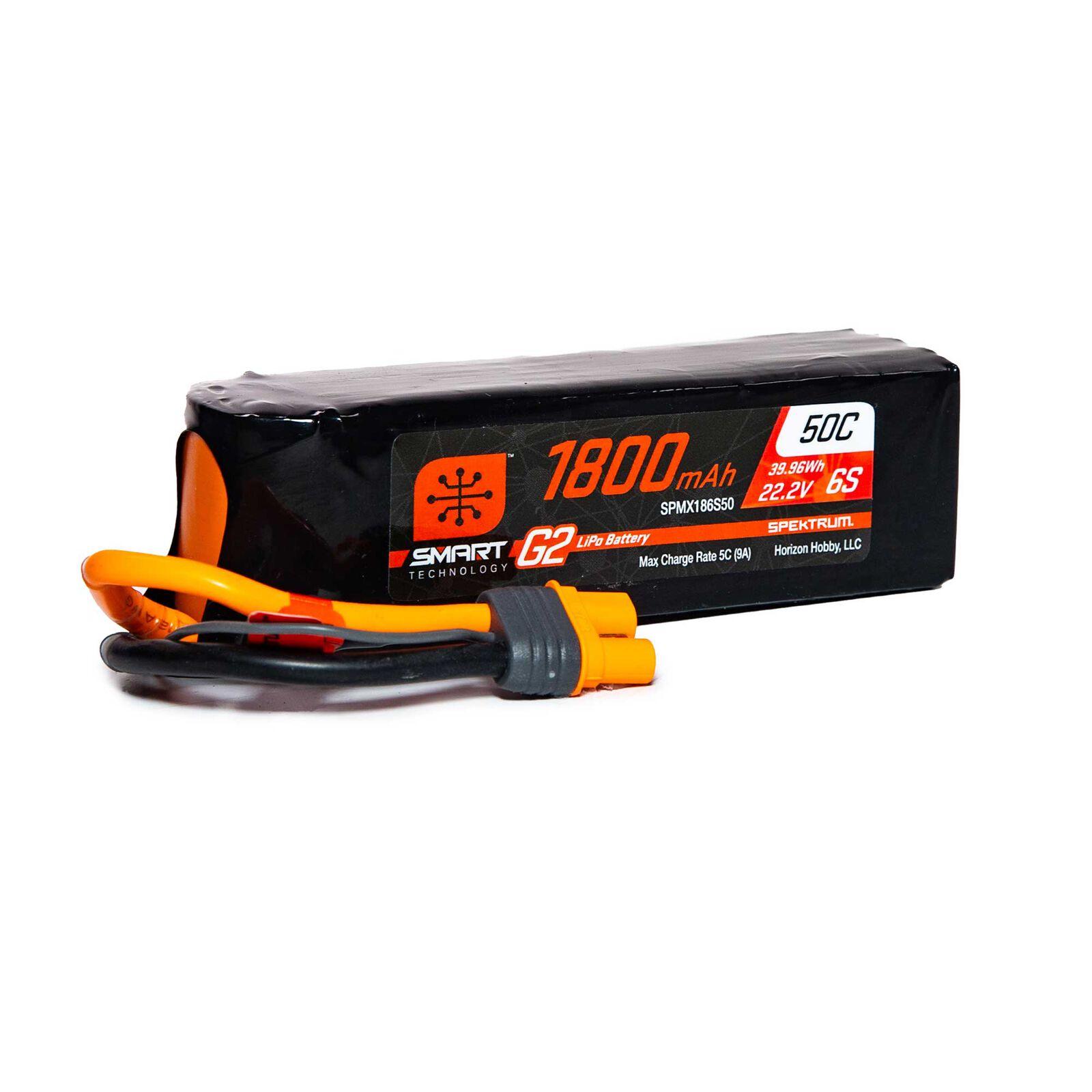22.2V 1800mAh 6S 50C Smart LiPo G2: IC3