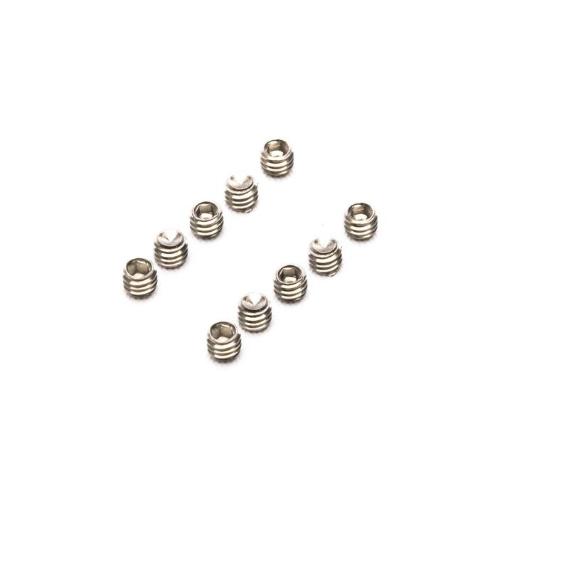 M4 x 3mm, Cup Point Set Screw (10)