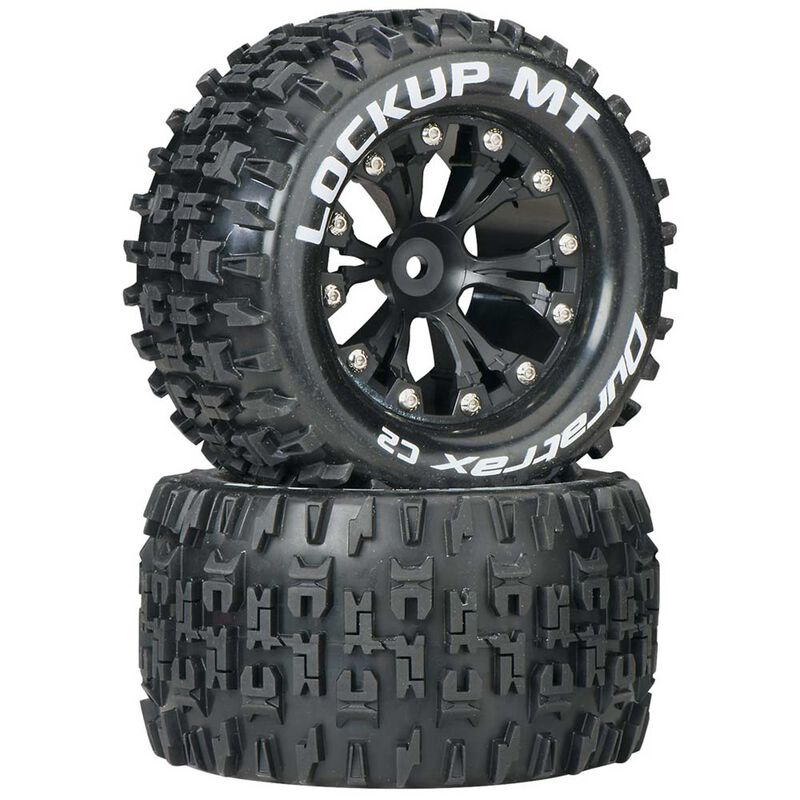"Lockup MT 2.8"" 2WD Mounted Rear C2 Tires, Black (2)"