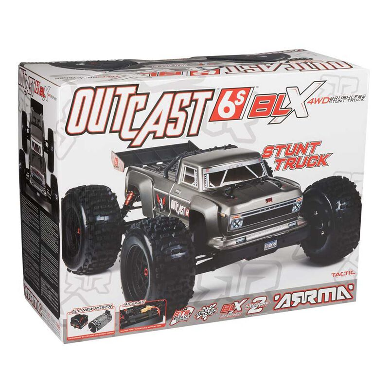 1/8 OUTCAST 6S BLX 4WD Brushless Truck RTR, Silver
