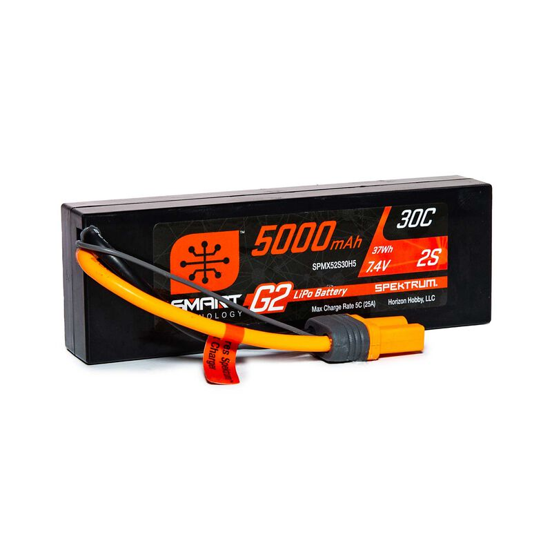 7.4V 5000mAh 2S 30C Smart LiPo G2 Hard Case: IC5